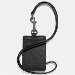 Coach Calf Leather ID lanyard cardholder